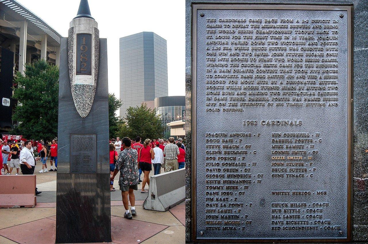 St. Louis Cardinals 1982 World Champions plaque