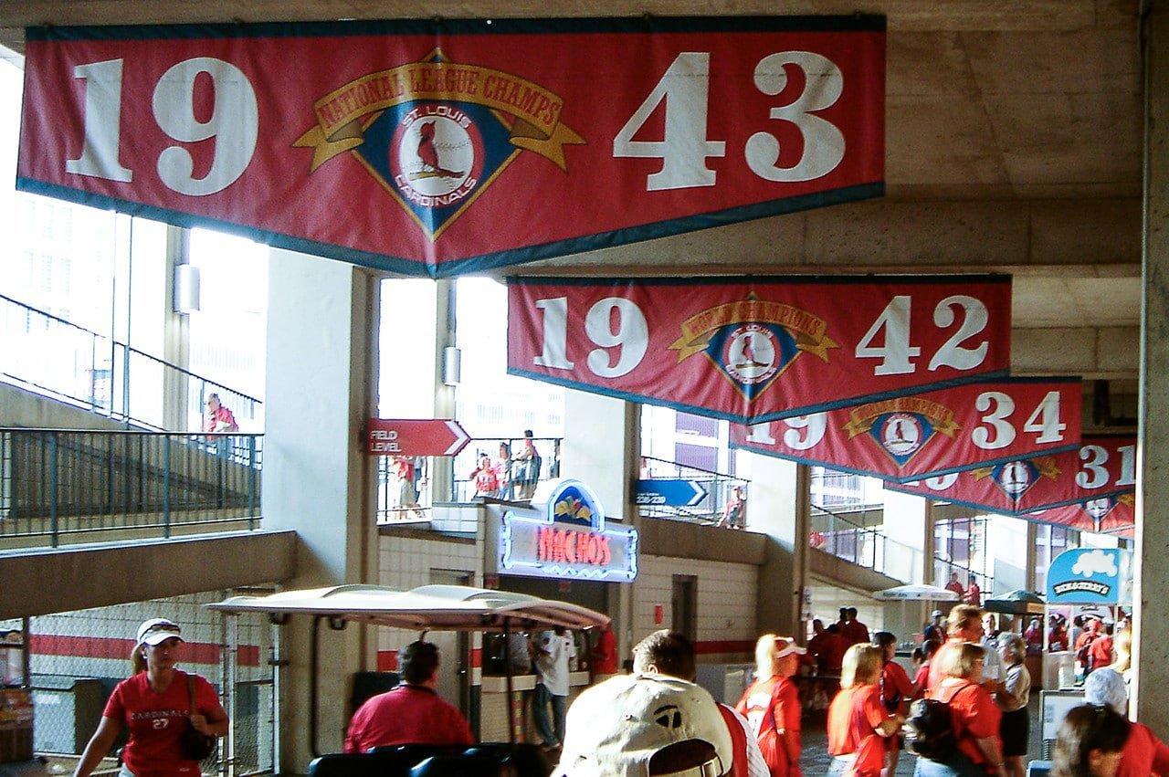 Concourse level old Busch Stadium 2005