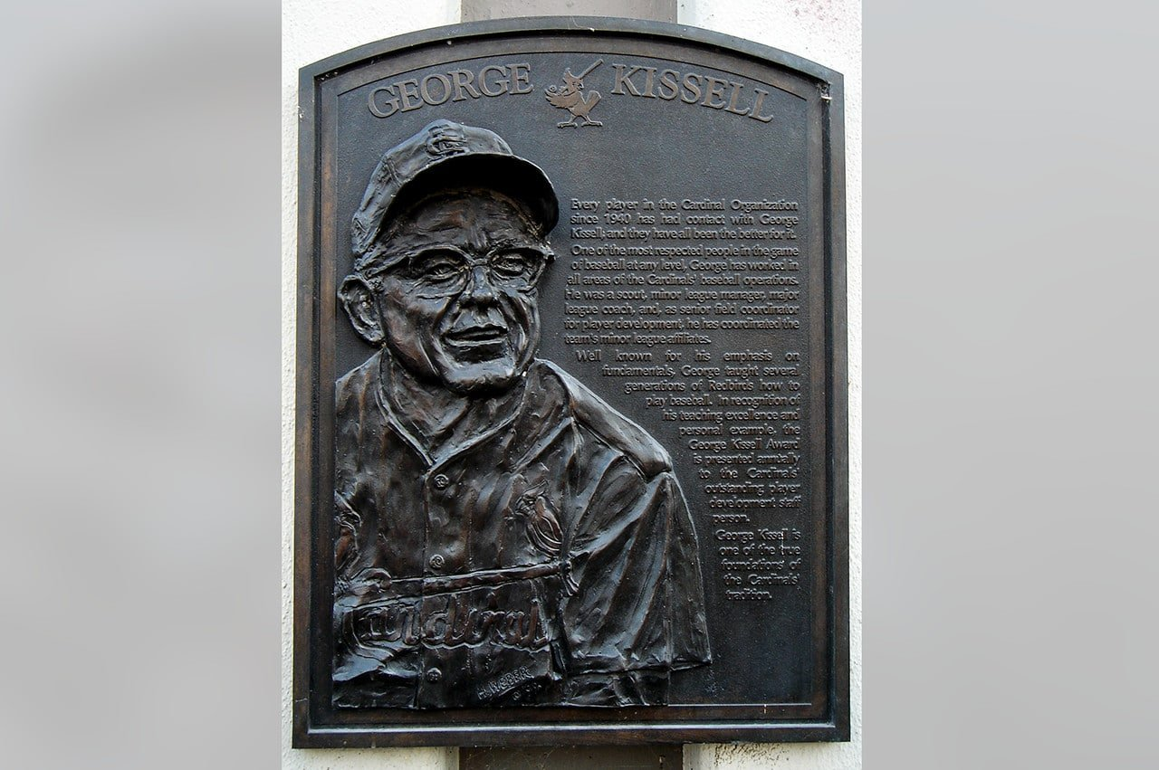 George Kissell plaque outside old Busch Stadium