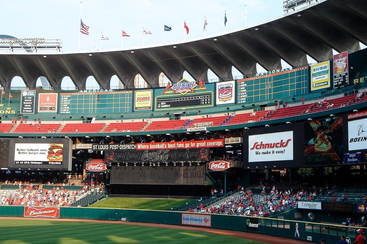 Center field view old Busch Stadium 2005