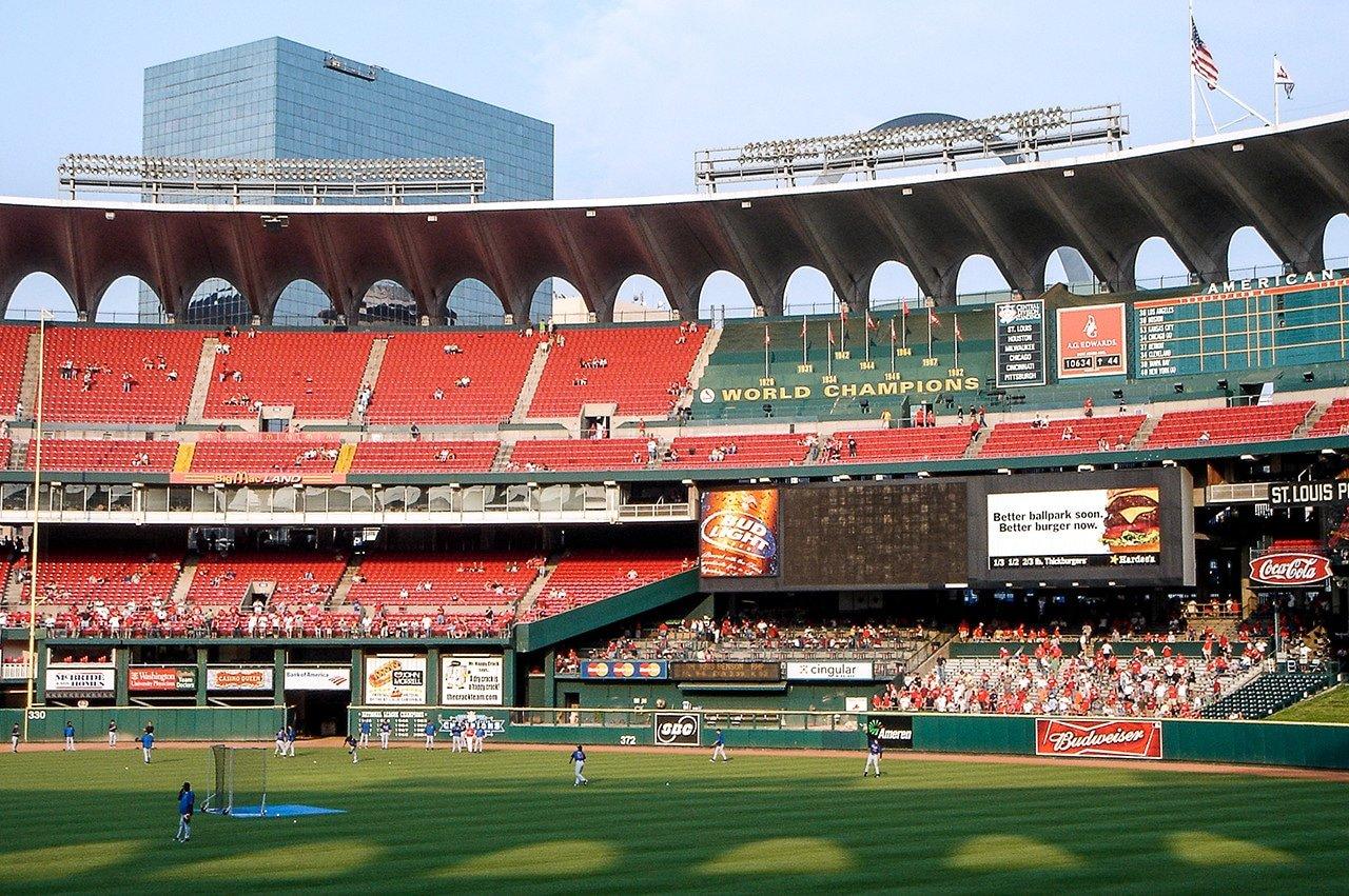 Left field view old Busch Stadium 2005
