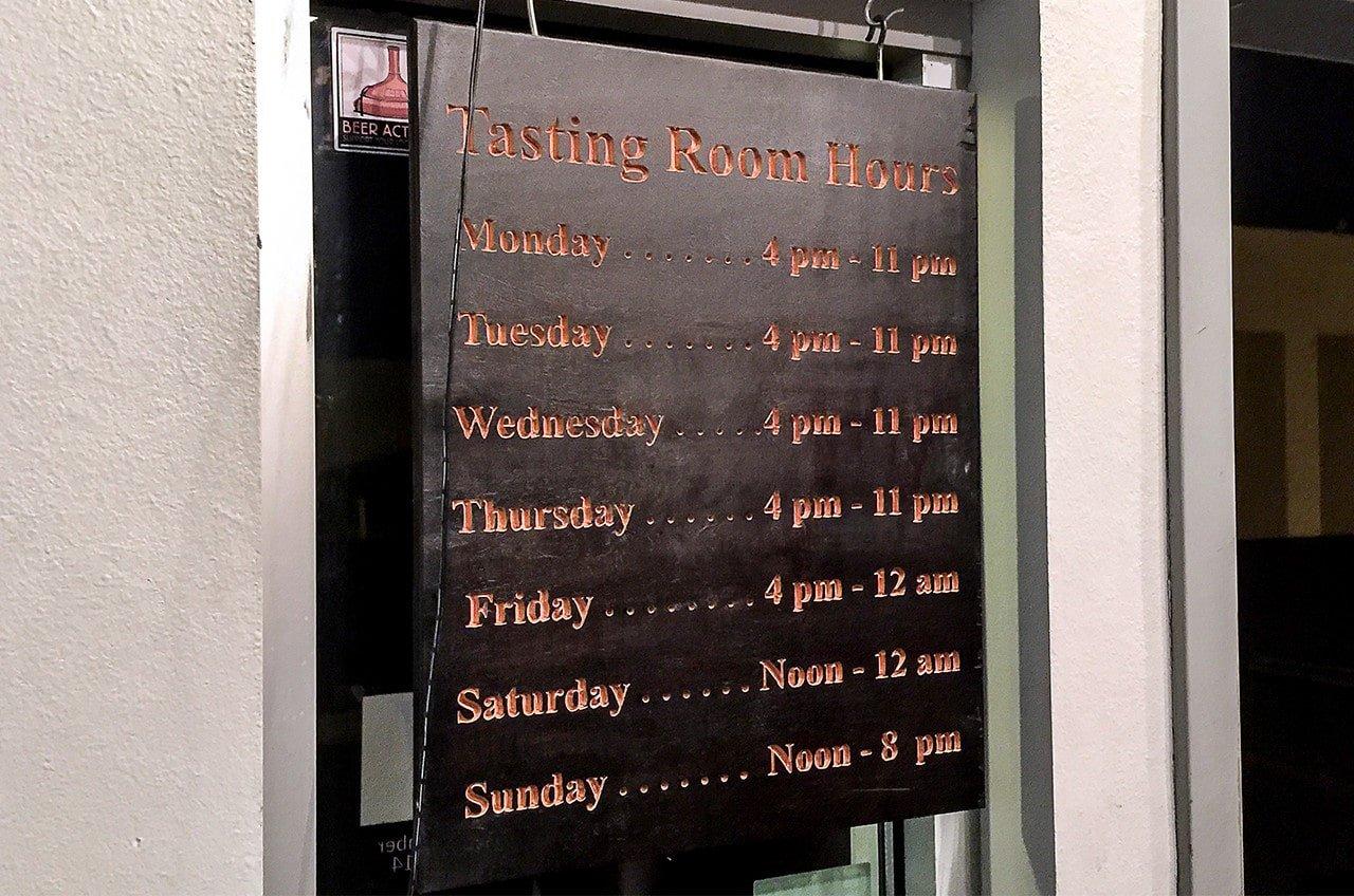 Noble Ale Works - Tasting Room Hours