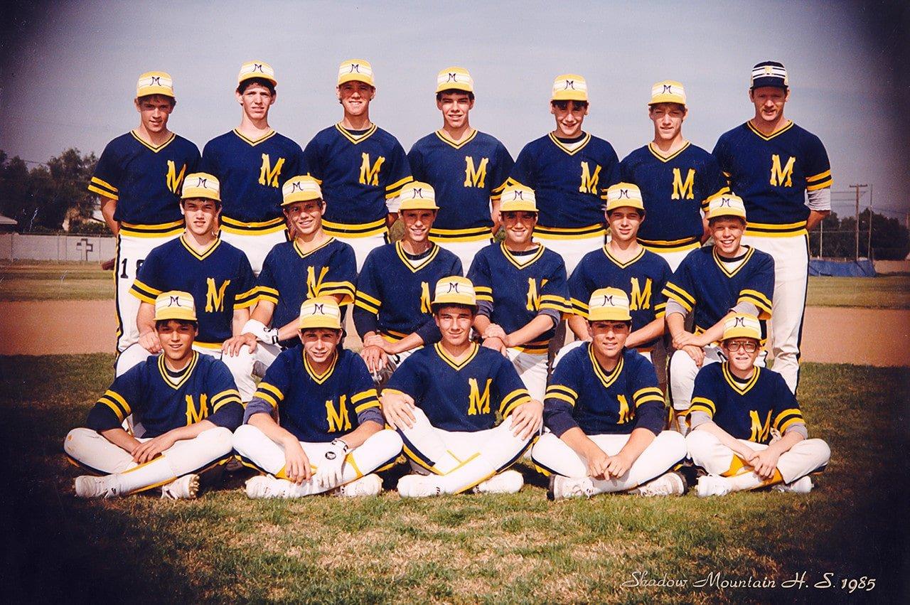 Shadow Mountain High School Matadors Freshman Baseball Team 1985