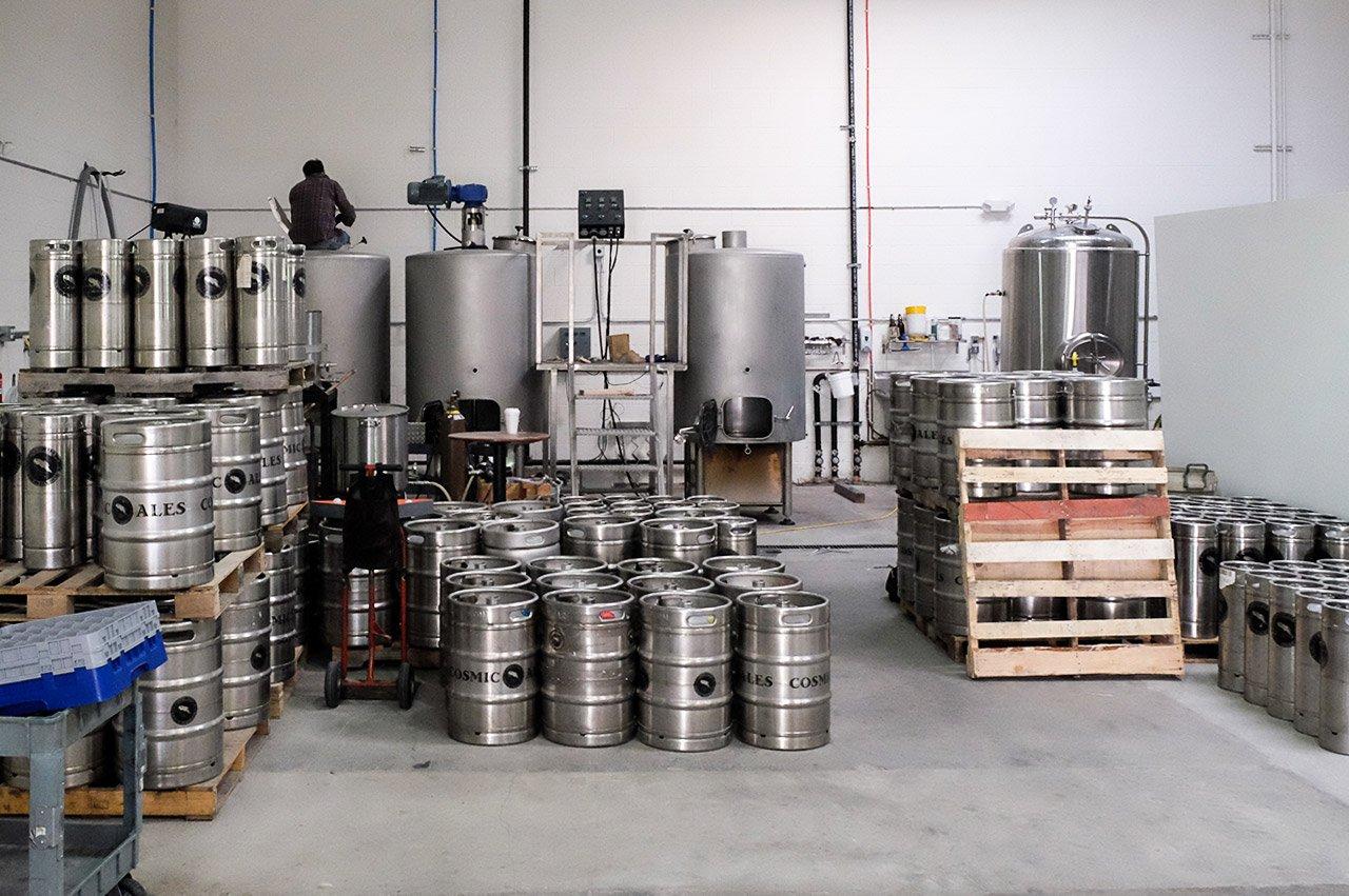 Cosmic Brewery Torrance California Brewing Tanks