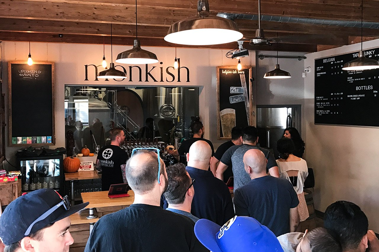 Monkish Brewing Company Torrance California Tap Room Entrance