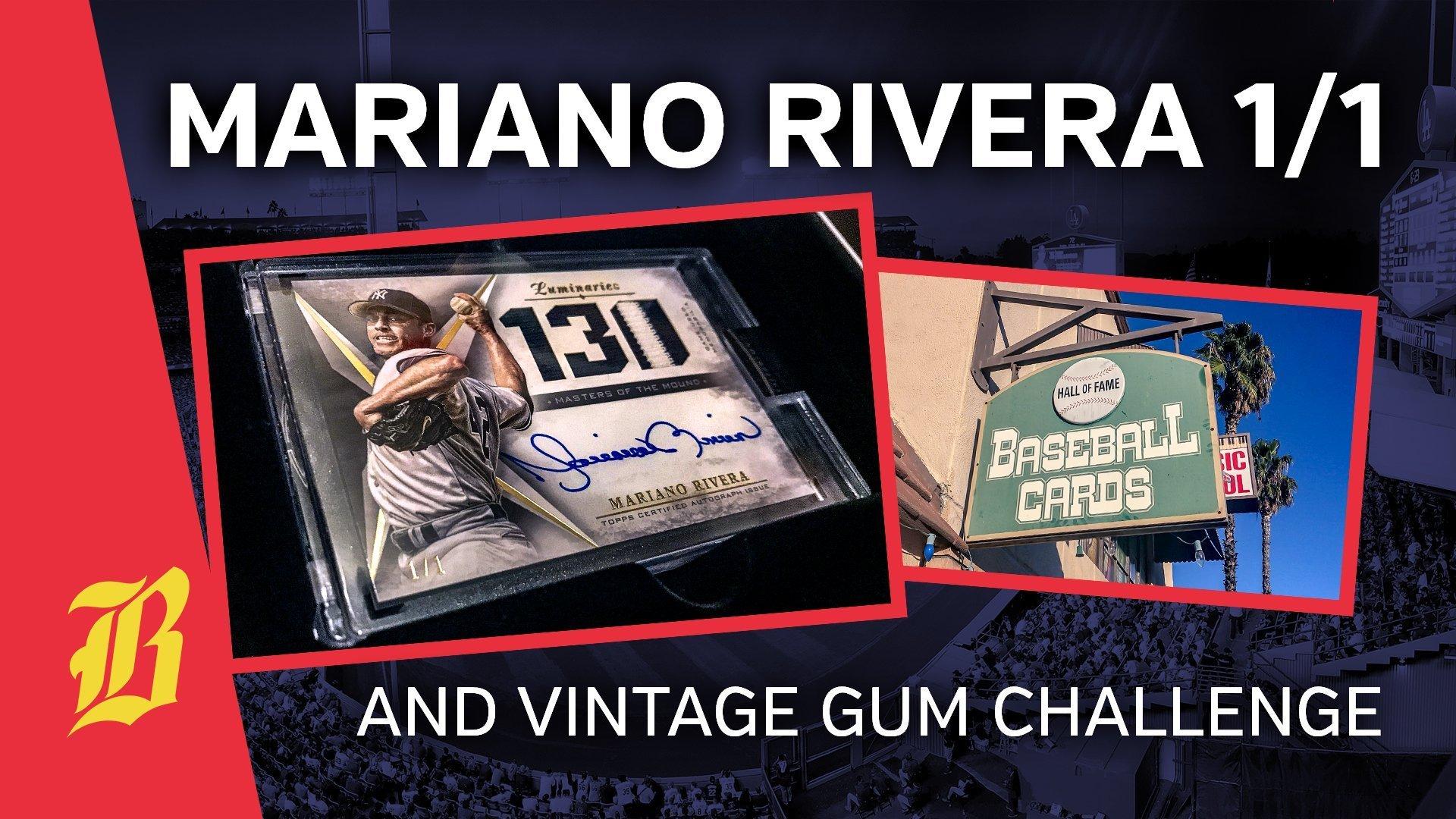 Video Mariano Rivera 11 Autograph Relic And Vintage Bubble Gum
