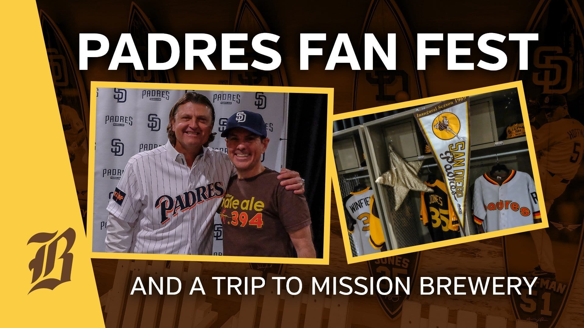 3dbbcf64480 VIDEO  San Diego Padres Fan Fest 2019 and Mission Brewery - Beer Baseball  Blog