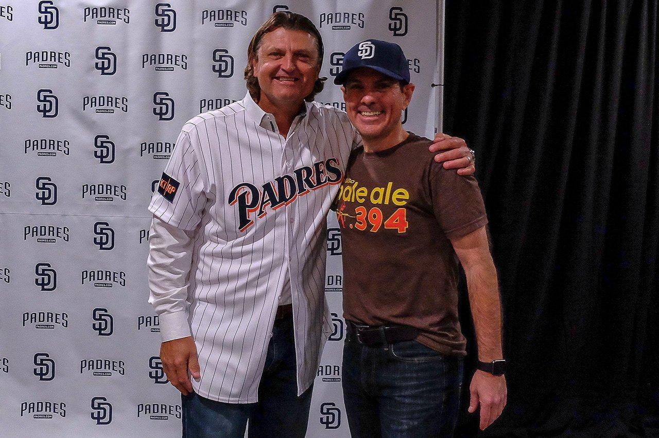 Baseball Hall of Fame member Trevor Hoffman and Michael Mondragon